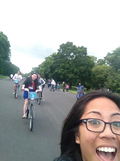 Biking at Hydepark!